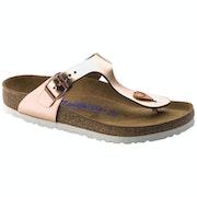 Birkenstock Gizeh Natural Leather Soft Footbed Sandals