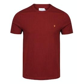 Farah Dennis Solid Short Sleeve T-Shirt - Burnt Red