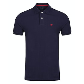 Hackett Slim Fit Logo Polo Shirt - Navy