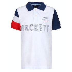 Hackett Aston Martin Kid's Polo Shirt - White