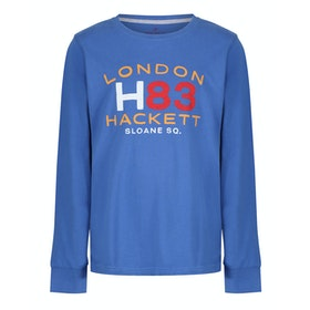 Hackett H83 London Kid's Long Sleeve T-Shirt - Azure Blue