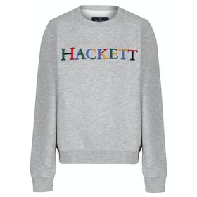 Hackett Multi Logo Kinder Pullover - Grey
