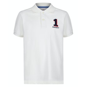 Hackett New Classic Kid's Polo Shirt - Winter White
