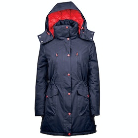 Dublin Bianca Long Line Parka Ladies Riding Jacket - Estate Blue
