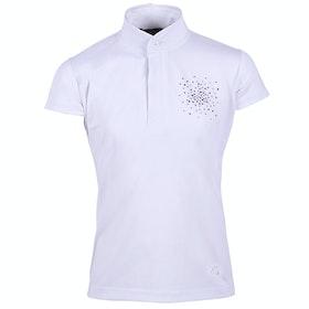 QHP Dorine Junior Girls Competition Shirt - White