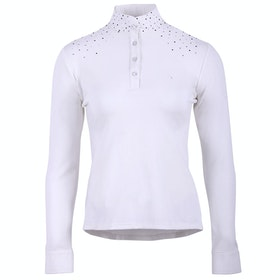 QHP Emilee Ladies Competition Shirt - White