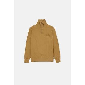 Universal Works Half Zip Sweatshirt - Mustard