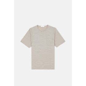 Samsoe Samsoe Finn St 11066 S S T-Shirt - Breen Cream St