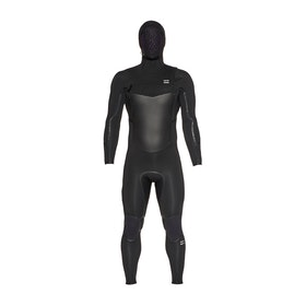 Billabong Furnace Absolute X 5/4mm Chest Zip Hooded Wetsuit - Black