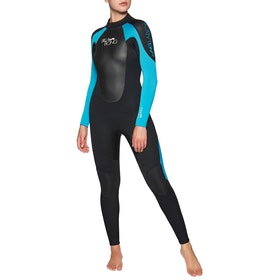 Billabong Launch 4/3mm Back Zip Wetsuit - Black/Turquoise