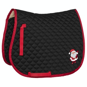 Derby House Pro Santa and Friends Print Saddlepads - Black High Risk Red