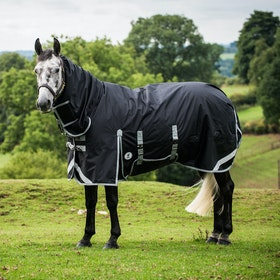 Derby House New Elite Medium All In One Turnout Rug - Black Cool Grey