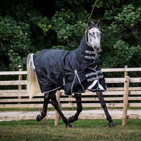 Derby House New Elite Medium Combo Turnout Rug - Black Cool Grey