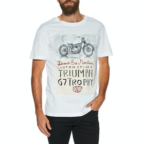 Deus Ex Machina Triumph Trophy , Kortärmad T-shirt - White