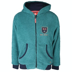 Horka Red Horse Teddy Fleece Girls Zip Hoody - Sea Blue