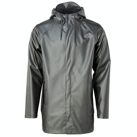 Rains Short Coat Jacke - Metallic Charcoal