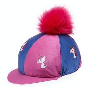 Derby House Unicorn Hat Cover - Blue Pink