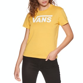 Vans Flying V Crew Womens Short Sleeve T-Shirt - Yolk Yellow