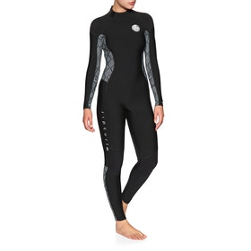 Rip Curl Dawn Patrol 4/3mm Back Zip , Våtdräkt - Black White