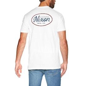 Camiseta de manga corta Nixon Axle - White