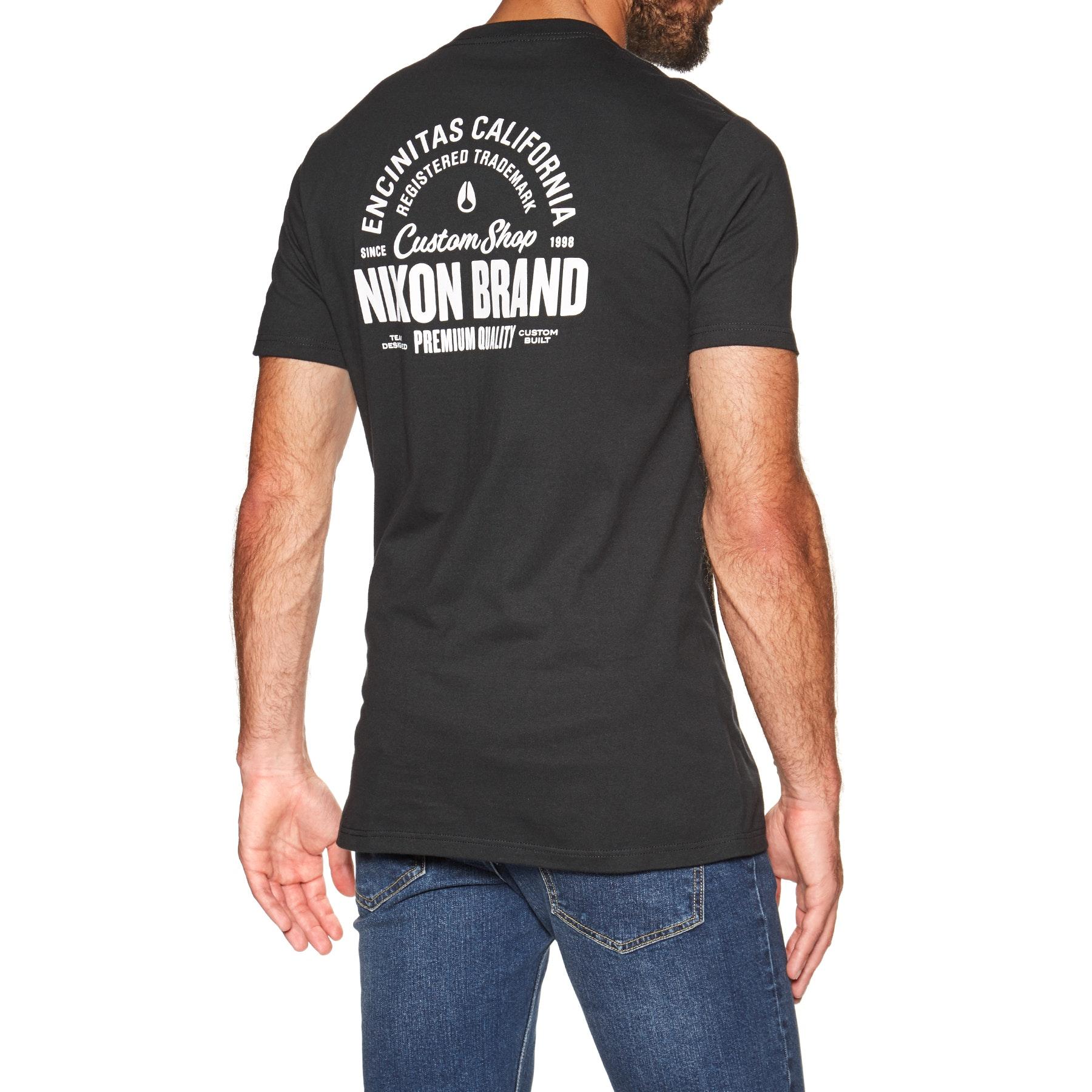 da meia-noite Marinha S16571242-02 S Nixon maré alta manga curta camiseta t-shirt