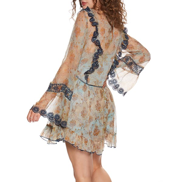 Free People Country Roads Mini Dress
