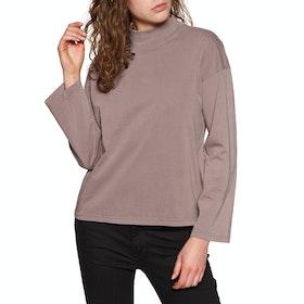 Brixton Anne Mock Neck Womens Sweater - Mauve