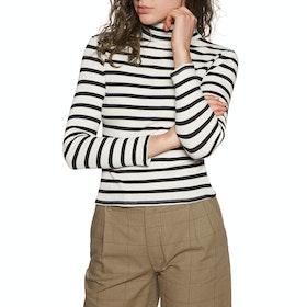 Brixton Ashley Turtleneck Womens Sweater - Black White
