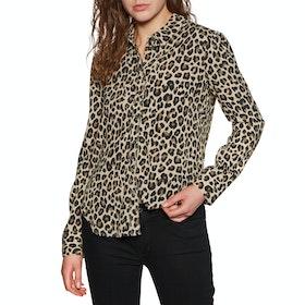 Brixton Kate Woven Womens Shirt - Leopard
