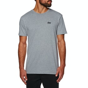Deus Ex Machina Standard Embroidered T Shirt - Grey Marle