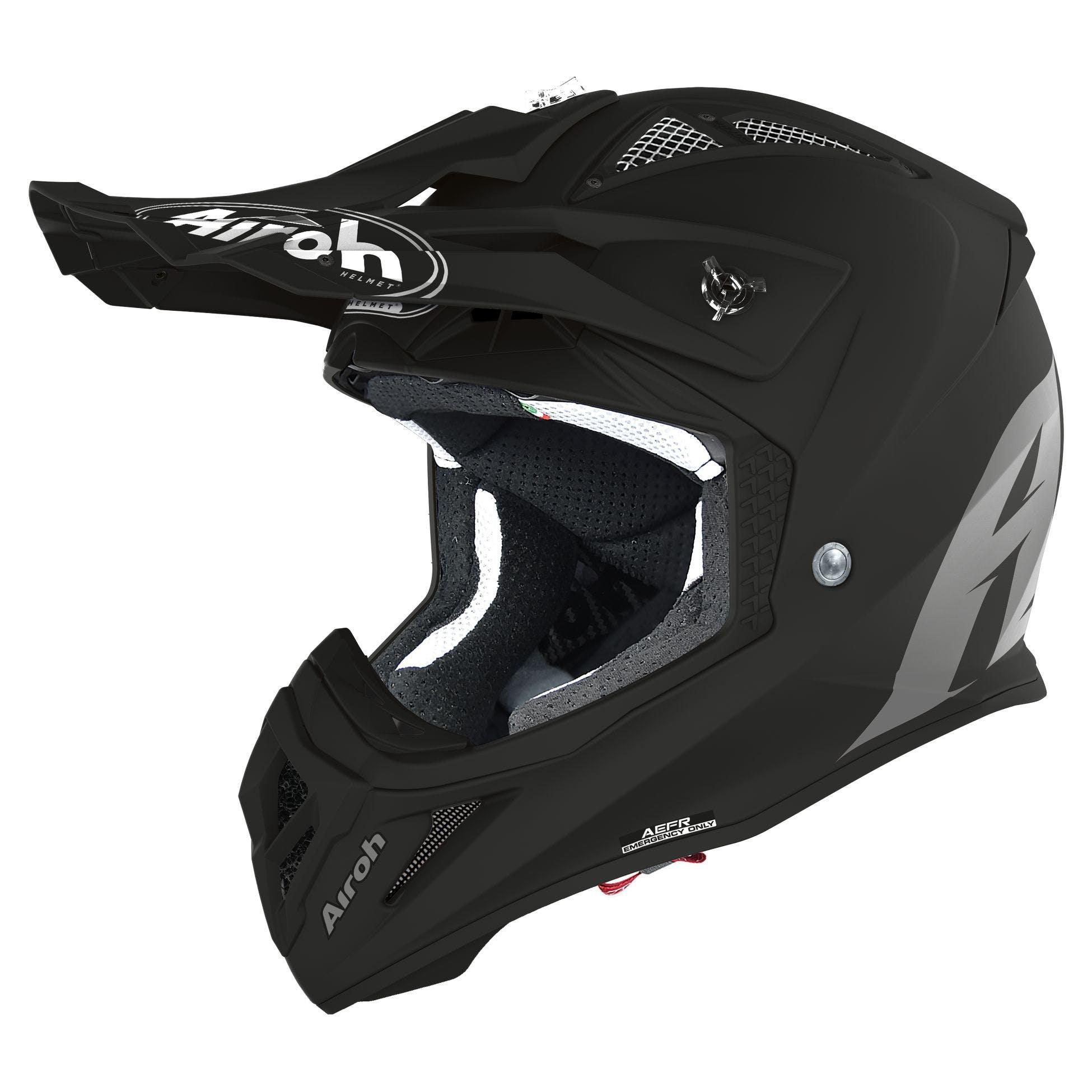 59//60 Airoh Aviator ACE Trick Motocross Helm Wei/ß//Rot//Blau L