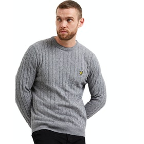 Lyle & Scott Cable Jumper Pullover - Mid Grey Marl