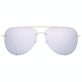 Quay Australia High Key Mini Rimless Women's Sunglasses - Gold ~ Lil