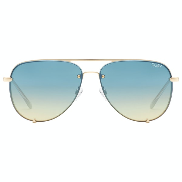 Quay Australia High Key Rimless Женщины Солнцезащитные очки