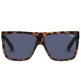 Quay Australia Barnun Women's Sunglasses - Shiny Black Smoke ~ Navy
