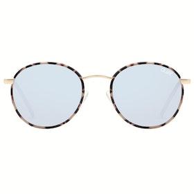Quay Australia Omen Women's Sunglasses - Milky Tort ~ Blue