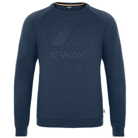 K-Way Augustine Spacer Logo Sweater - Blue Indigo