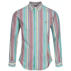 Polo Ralph Lauren Classic Shirt - 4137 Garnet/yellow Multi