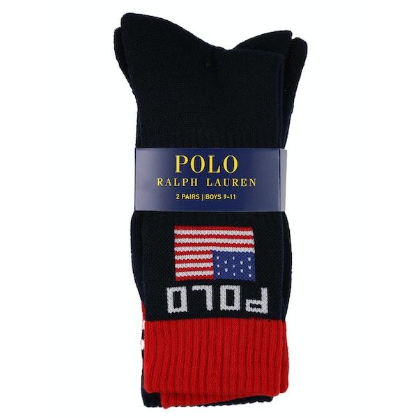 Polo Ralph Lauren 2 Pack Athletic Crew Boy's Fashion Socks