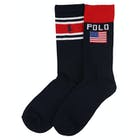 Ralph Lauren 2 Pack Athletic Crew Boy's Socks