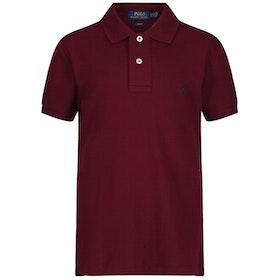 Polo Ralph Lauren Basic Mesh Slim Boy's Polo Shirt - Classic Wine