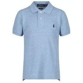 Polo Ralph Lauren Basic Mesh Slim Boy's Polo Shirt - New Powder Blue Heather