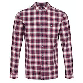 Lacoste Fine Check Shirt - Alizarin/mascarpone-navy