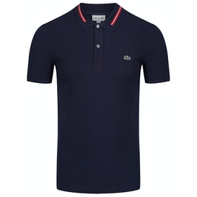 Polo Lacoste Embroidered Slim Fit - Navy Blue