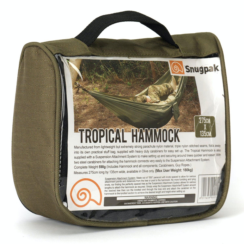 Snugpak Lightweight Tropical Hammock Olive,
