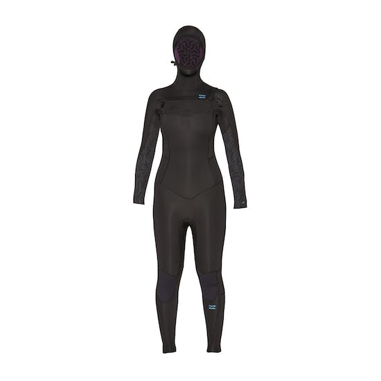 Billabong Furnace Synergy 5/4mm 2020 Chest Zip Hooded Ladies Wetsuit