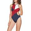 Tommy Hilfiger Cheeky One Piece Womens Swimsuit - Navy Blazer