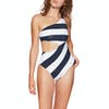 Tommy Hilfiger One Piece Cut Out Womens Swimsuit - Pique Blockstr Navy Blazer