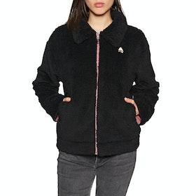 Burton Lynx Reversible Full Zip Womens Fleece - True Black Rose Brown