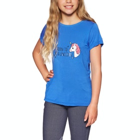 Derby House Unicorn Bamboo Cotton Childrens Short Sleeve T-Shirt - Blue